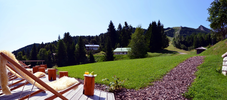 Viaggiare bene hotel Norge in Monte Bondone terrazza